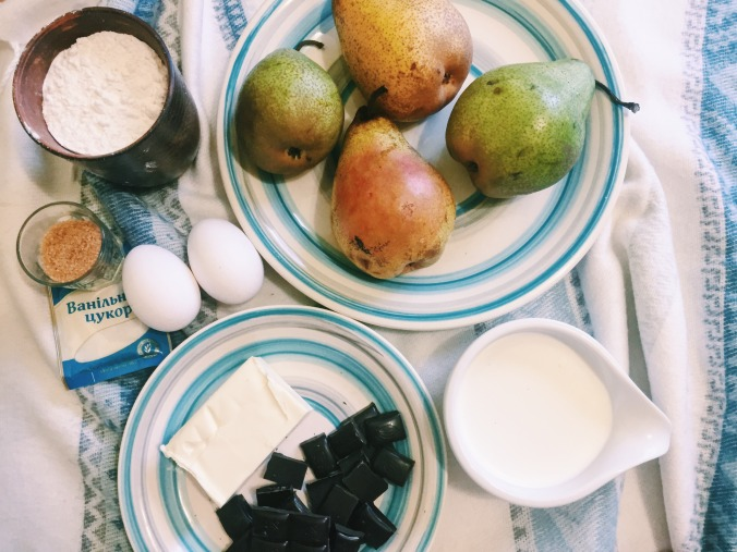 Тарт з грушами і шоколадом_1