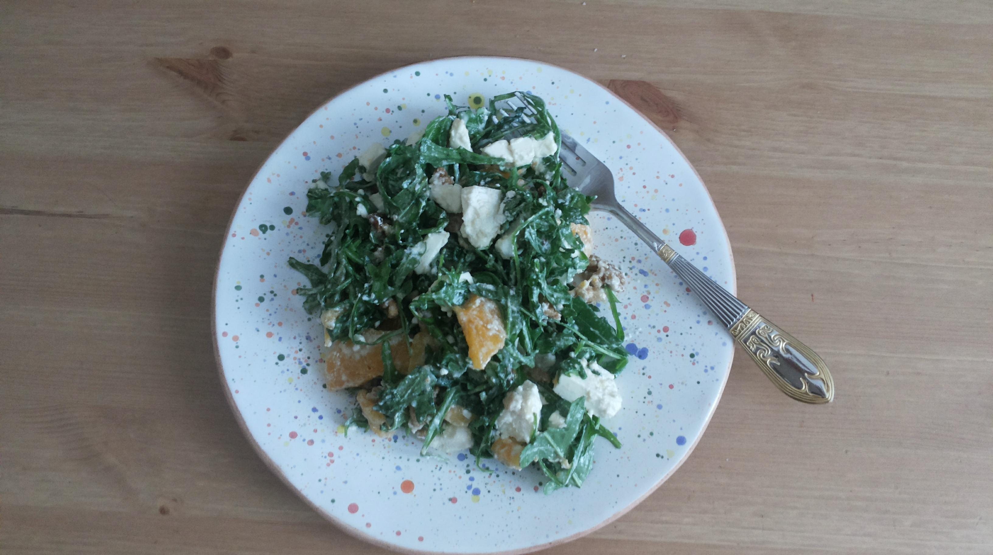 Салат з руколи та хурми
